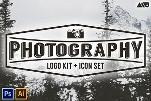 Photography Logo Kit and Icon Set
