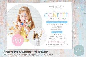 IY002 Confetti Marketing Board