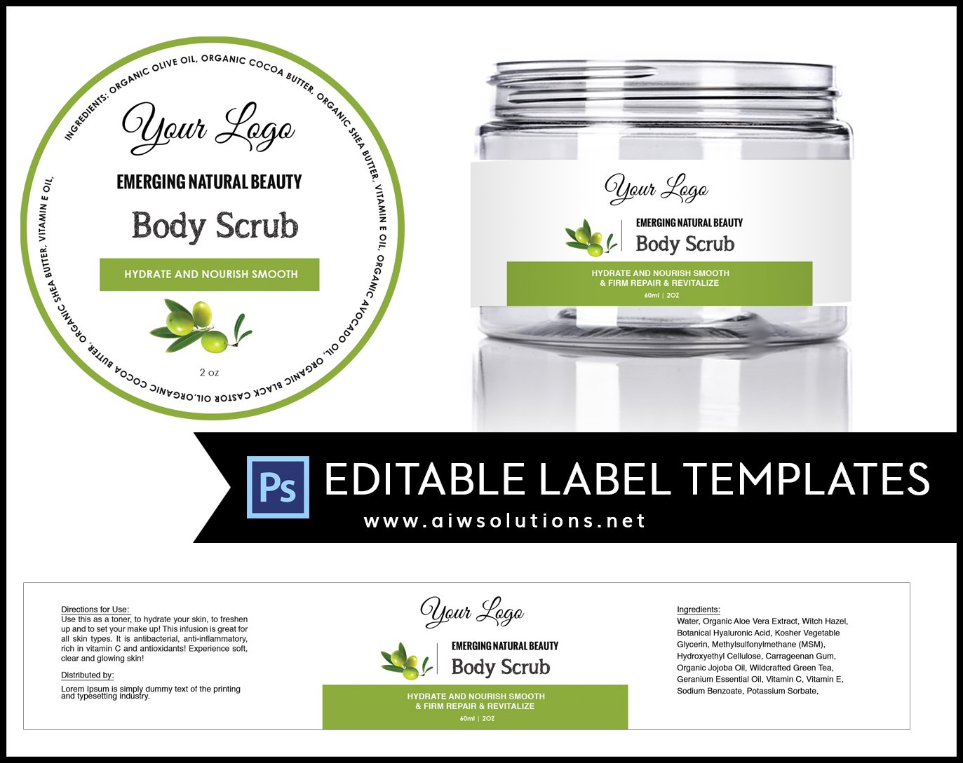 Olive round product label id16 stationery templates for Cosmetic label templates