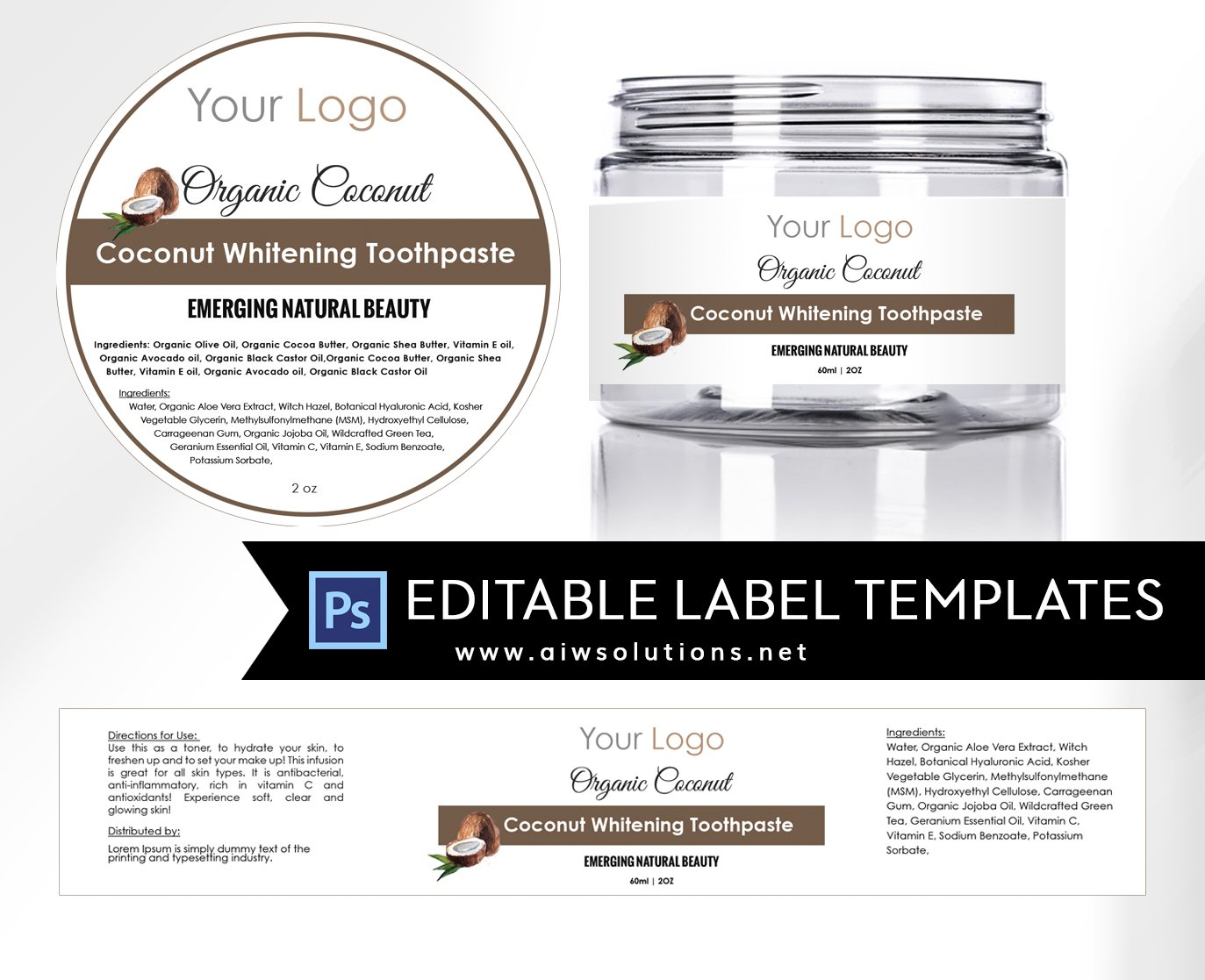 3 candle label templates stationery templates creative market coconut round label id17 pronofoot35fo Images