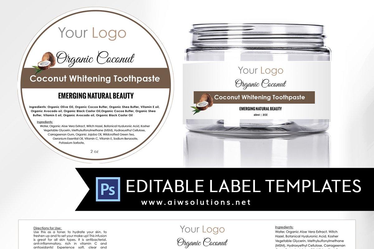 Coconut Round Label ID17