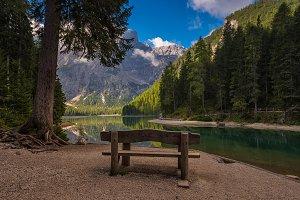 Braies lake view, Italy