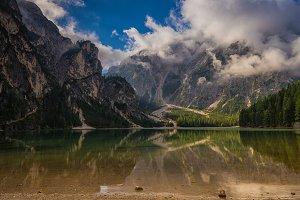 Braies Lake, Dolomiti, Italy