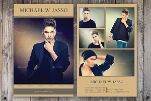 Modeling Comp Card Template