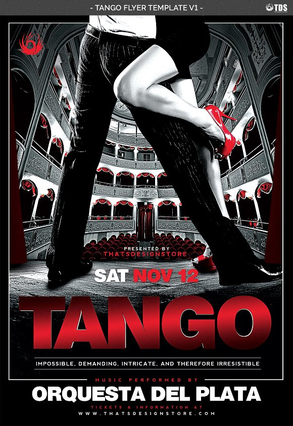 tango flyer template v1 flyer templates creative market