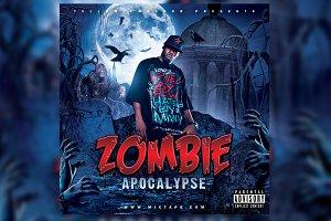 Zombie Apocalypse Mixtape Cover PSD