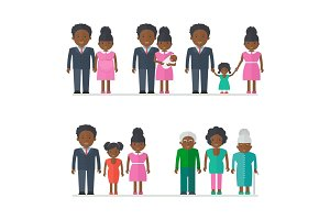 black people family generation