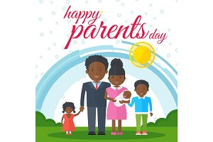 happy parents day black