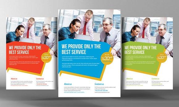 5 Corporate Business Flyers Bundle Flyer Templates Creative Market – Marketing Flyer