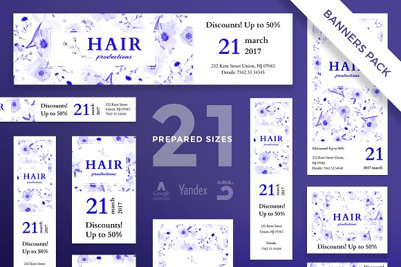 Banners Pack | Hair Productions