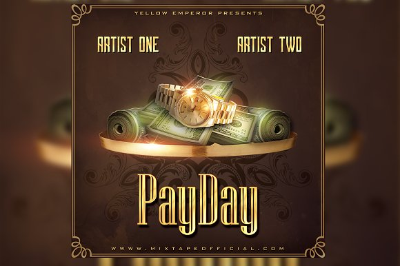 Payday CD Mixtape Cover Template in Templates