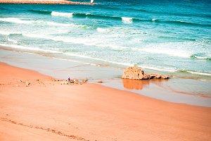 Merón beach.Vicente de la barquera.