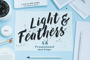 Light & Feathers-promotional mockups