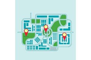 city map color