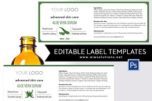 Editable Label Template- id14