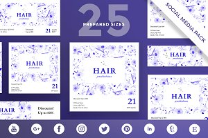 Social Media Pack | Hair Productions