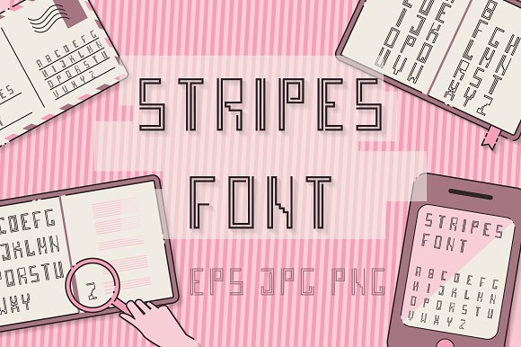 Stripes Font TYPEFACES Set