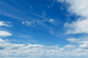 Blue sky background with clouds