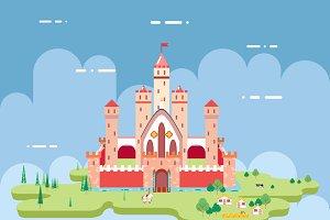 Flat Design Castle