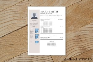 Beige Resume Template - MS Word