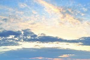 Sunset sky panorama background