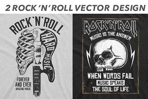 2 Rock 'N' Roll vector design