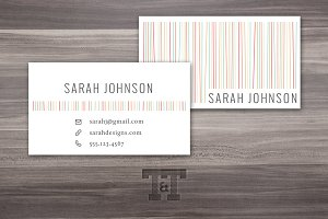 Fun & Sassy Lines Calling Card