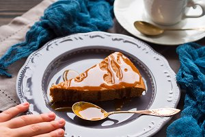 Chocolate cake with caramel