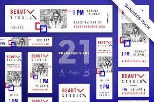Banners Pack | Beauty Studio
