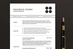 3 Pages Resume/CV Template Full Set