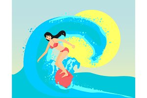 The surfing girl