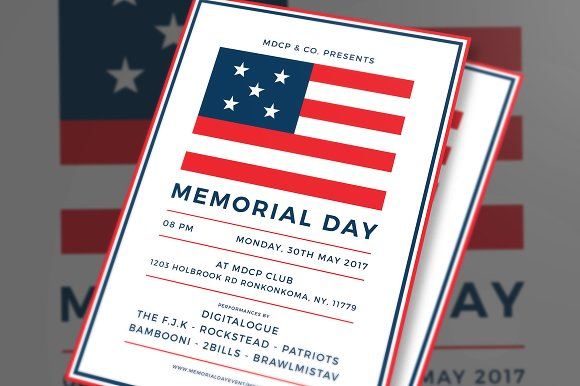 memorial day flyer flyer templates creative market