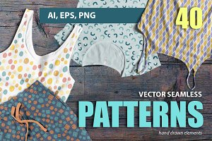 Abstract vector seamless patterns