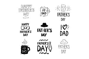 Happy fathers day. Lettering.