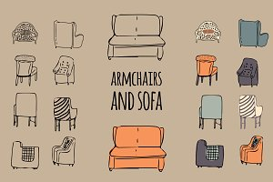 Armchairs Set