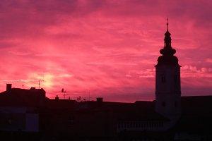 Purple City Sky
