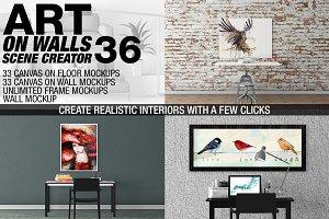 Canvas Mockups - Frames Mockups v 36