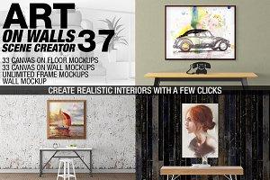 Canvas Mockups - Frames Mockups v 37