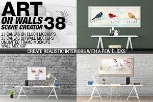 Canvas Mockups - Frames Mockups v 38