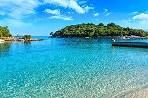 Albanian summer sea coast