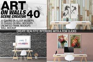 Canvas Mockups - Frames Mockups v 40