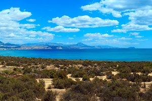 Spain summer sea coast