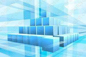 Blue Blocks Business Background