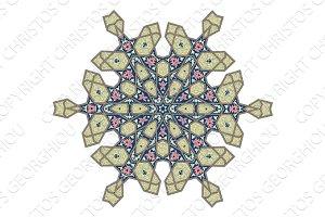 Ottoman floral pattern motif