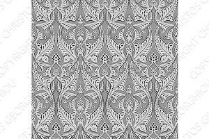Abstract seamless art nouveau pattern