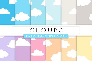 Cloudy Sky Digital Papers