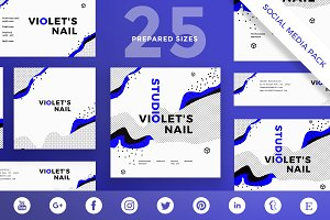 Social Media Pack | VioletNailStudio