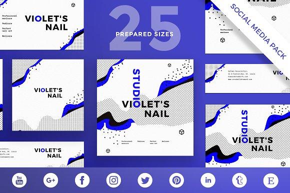 Social Media Pack VioletNailStudio