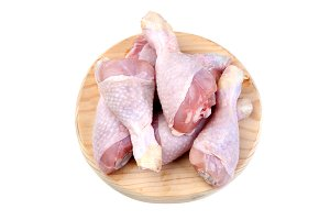Healthy chicken isolated on white
