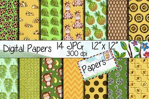 Safari Digital Paper Pack